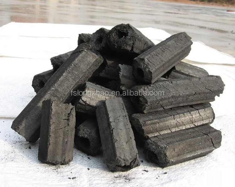 Factory price hexagon hardwood sawdust briquette charcoal for bbq