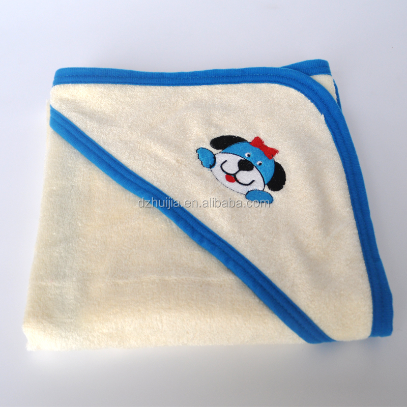 Customized 100% Bamboo Fabric Baby Hooded Towel Bathrobe for babies