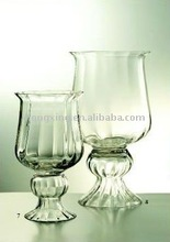 Large Glass Hurricane Candle Holder with Base
