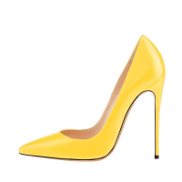 Yellow Women Sexy Stiletto Shoes Evening
