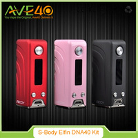 2016 Wholesale price red/ black/ pink Sbody elfin mini DNA 40w rubber mod, 65*32*22mm elfin mini DNA 40w rubber mod