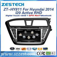 High quality Car GPS Multimedia system for Hyundai 2014 Active I20 RHD car dvd player/ gps navigation system