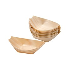 Boat Plate Wooden Made Takoyaki Take out Tray