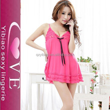 Deep V-neck Sexy Woman Lace Hot Mature Women Babydoll