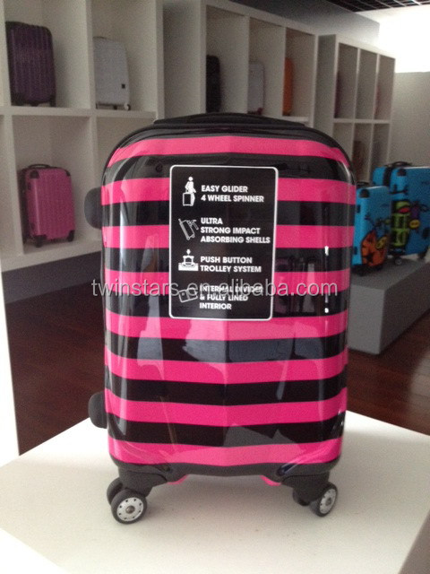 Polycarbonate ABS Trolley Flower Printed Luggage
