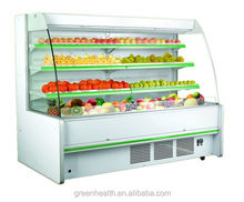 vegetable display cooler / commercial cooler open top / supermarket display chiller with CE