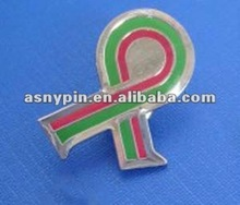 soft enamel epoxy coaterd ribbon pin badge