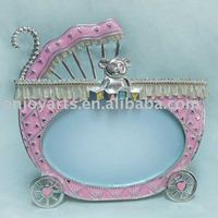 Silver plated Baby picture photo frames(P117046c1)