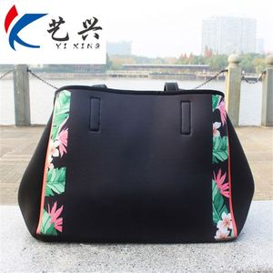 2019 New Design Neoprene Zip Pocket Inside Tote Handbag 6ff053a58226d