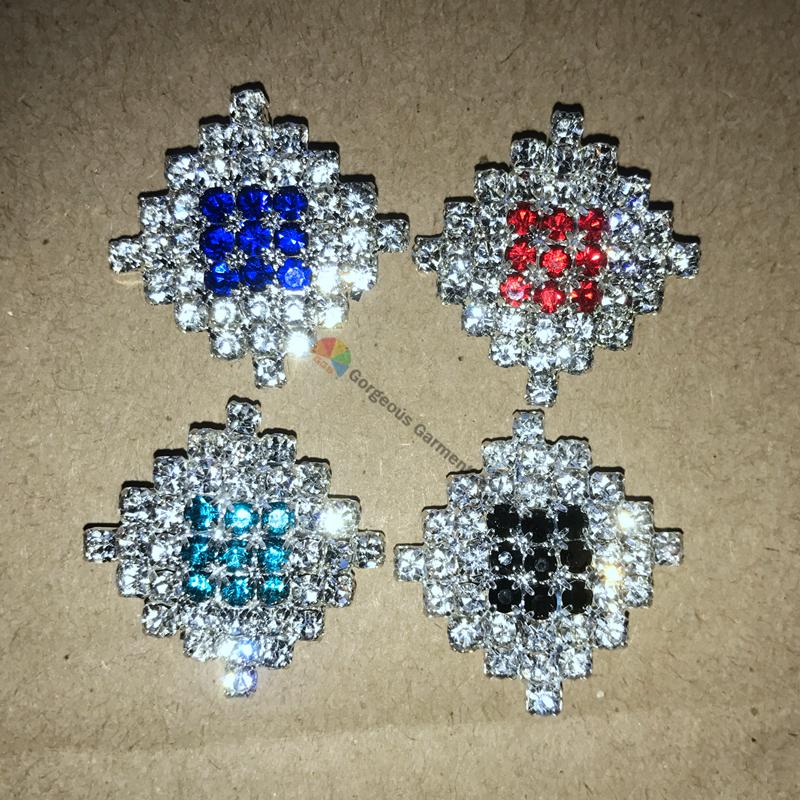 10pcs 23mm Royal blue Red Black Aquamarine Diamond rhinestone button ... 3f5cf93d1e55