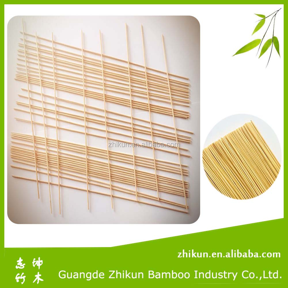 Natural raw bamboo stick material for making sambrani