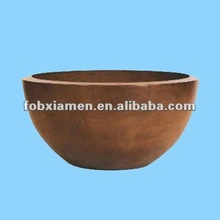 Terracotta outdoor large fire bowl