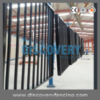 Aluminium Black Pool Fence /Fencing 2400mm x 1200mm