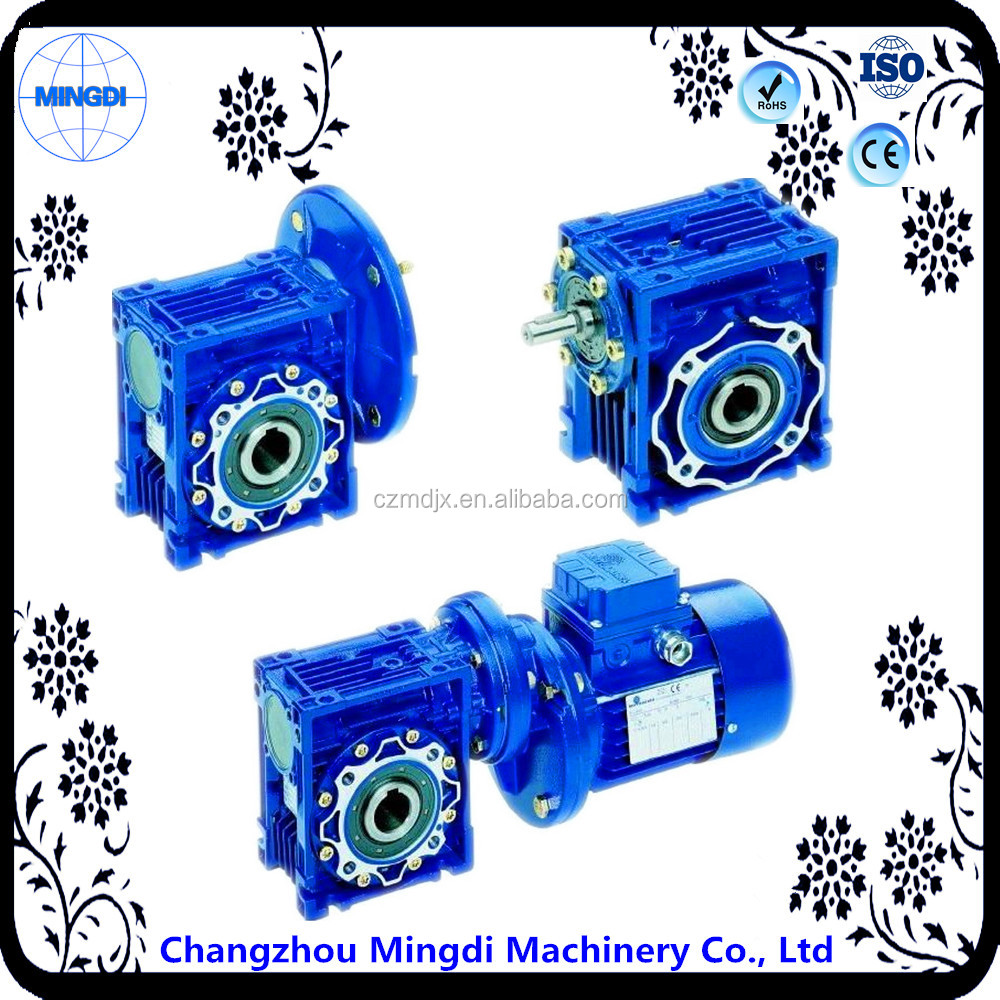 RV/NRV Aluminium Alloy Worm Gearbox Speed ReducerTransmission Parts For rotary cutter gearbox