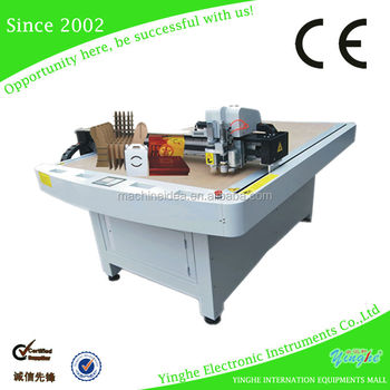 hight quality carton cutting plotter machine for cartons with vacuum table YH-1410