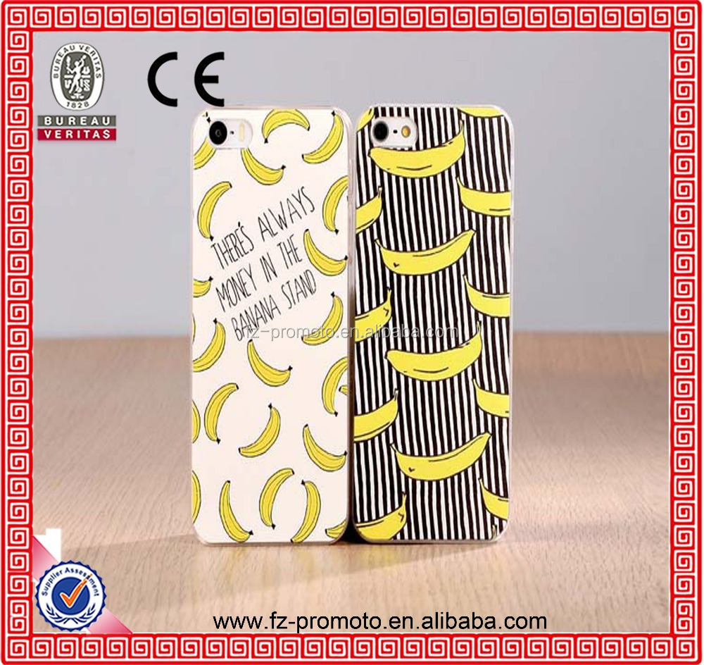 Case For Apple iPhone 4 4S 5 5S 5C 6 6s Plus 6Plus Soft Silicon TPU Transparent Fruit Pineapple Lemon Banana Thin Phone Cases