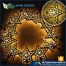 New creative design 20LED warm white Iron star fairy light holiday Christmas decoration lighting