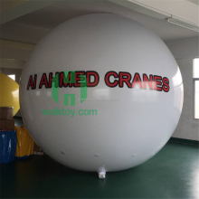 Giant inflatable helium balloon for advertising hot sale white inflatable big balloon with logo for sale.