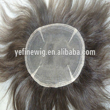Wholesale Free Style Human Hair Mens Toupee with Gray Hair