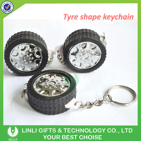 Advertising gift car tyre tracks keychain