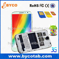 china manufacturer 5.0 inch MTK6572 Dual Core Android 4.2 3 sim card 3 standby mobile phone