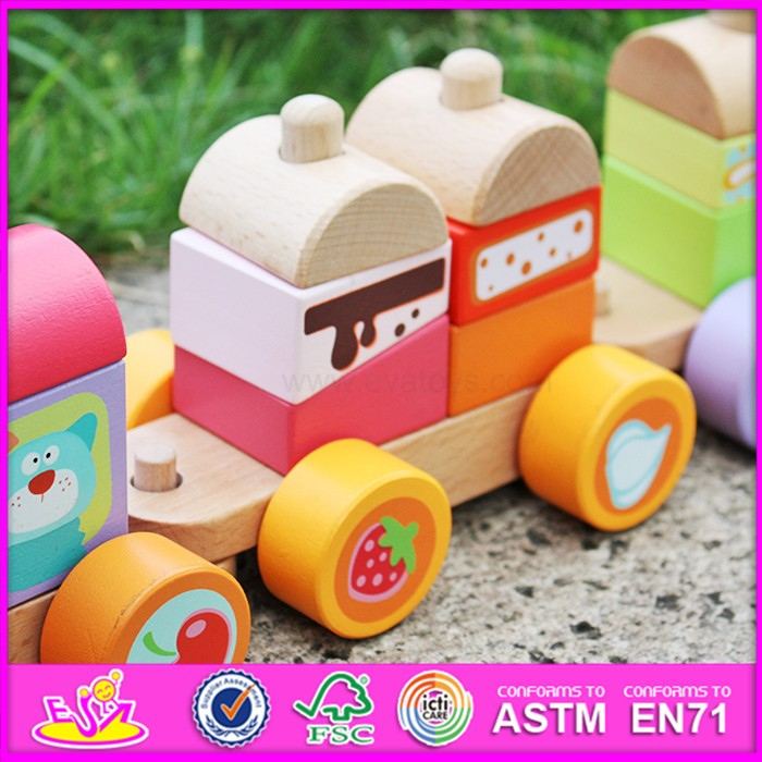 new products lovely wooden toy train sets for toddlers W04A304