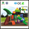 outdoor plastic playground tube slides for kids(QX-033C)