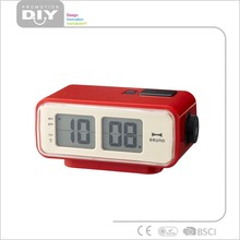 Red Retro Digital Flip Desk Square Alarm Clock