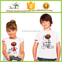 100% cotton embroidery children t-shirts