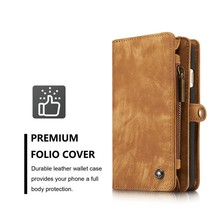 New Arrive Retro Magnetic Flip Cover Leather Wallet Case For iPhone 6 plus