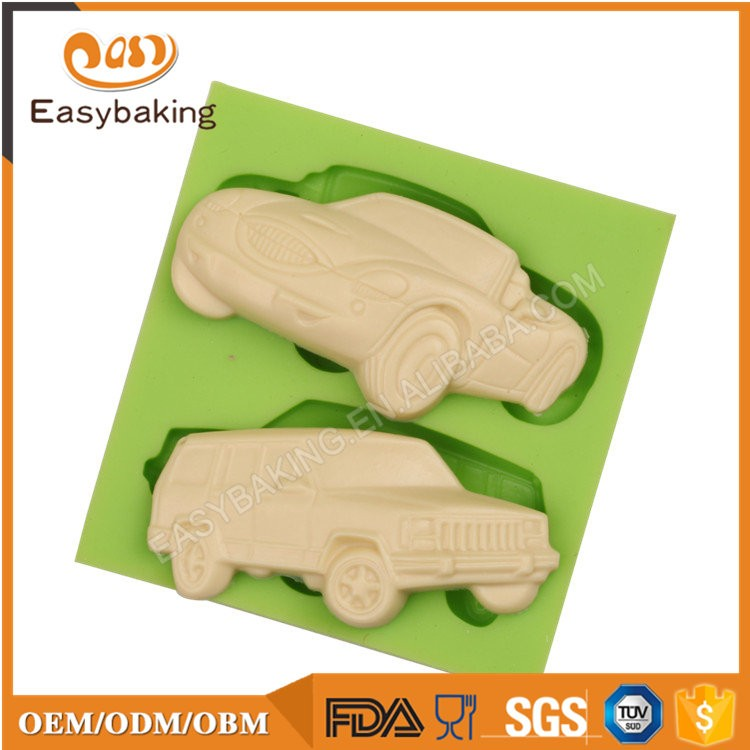 Hot Selling Toys Custom 3D Cars Cake Mold Silicone