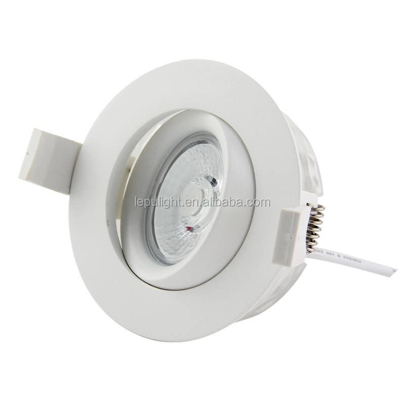 white black silver nickel new gyro with real high quality led cob downlight reflector lens 9w IP44 83mm warm white 2700k 3000k