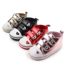 Lovely Heart baby First Walker Boys girls casual shoe PU newborn baby Leather shoes For Birthday