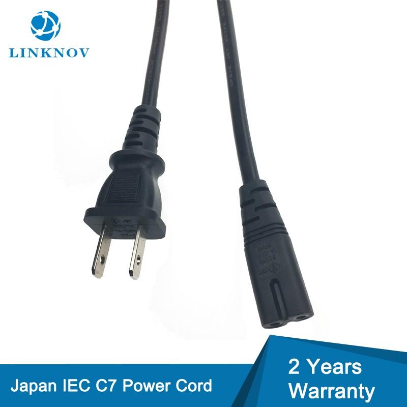 Power Cord Manufacture Japanese Cross Section C7 2 Pin PSE Power Cord Japan Audio Visual Equipment Extension Cable