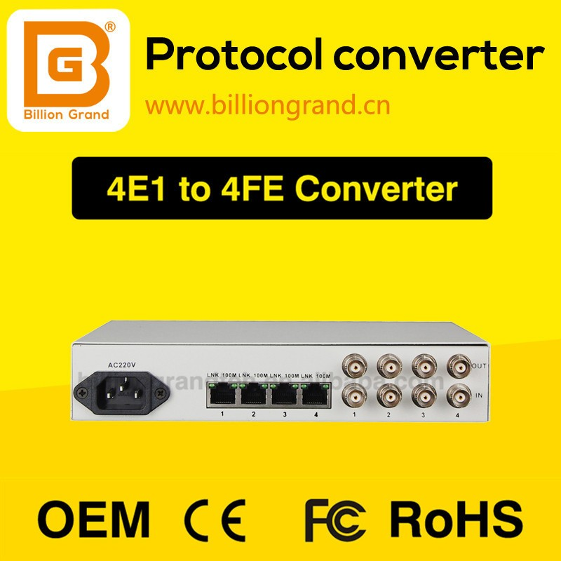 4E1 to Ethernet converter with rj45 fiber optic equipment