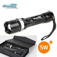 Dry battery 1300lm 5W powerful rechargeable led torch light SM601
