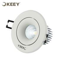 KEEY 6 inch Round Led Recessed Ceiling Light For Garage 4W 6W Indoor Lighting QYS1-STH0602N