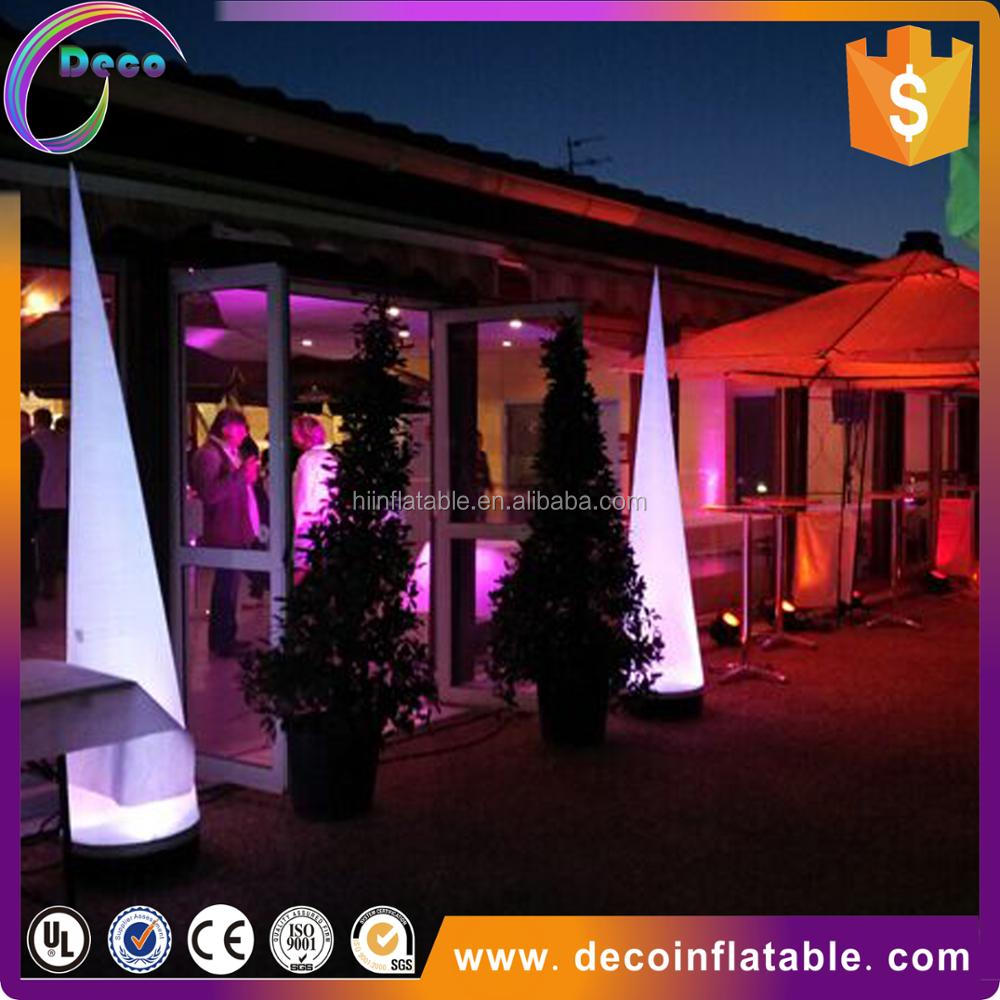 Yard inflatable cone led decoration