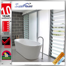 AS2047 light control aluminium glass blade louver windows for bathroom