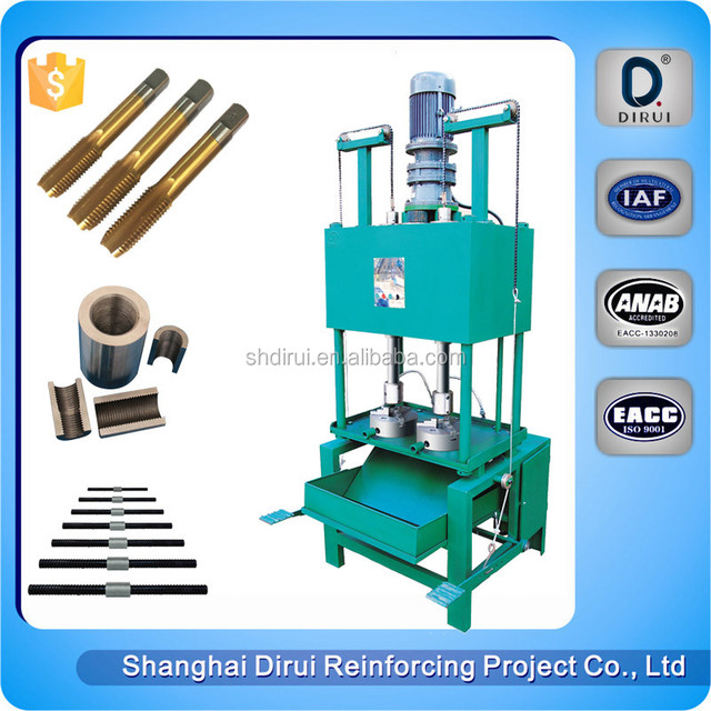 Semi-automatic rebar nuts tapping coupler threading splicing thread machine DGS-40