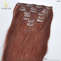 Top Quality And Lowest Price Full Cuticle clip in malaysian hair extensions