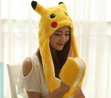 1pcs Creative Pikachu <strong>Plush</strong> With Gloves Cosplay Long Pokemon <strong>Plush</strong> Kids &Girls Chrismas Gifts