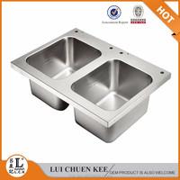 sink kitchen stainless steel double bowl wash sink for kitchen