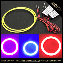 High brightness universal 80mm 90mm 100mm 105mm Cob led car headlights waterproof led halo rings fog lamp