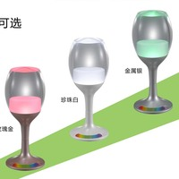 Light colored glass wine glass with stem goblet lamp for children home theater use