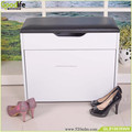 White finish MDF shoe bench shoe storage bench wholesale