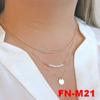 2015 New stocks fashion gold thin chains necklaces