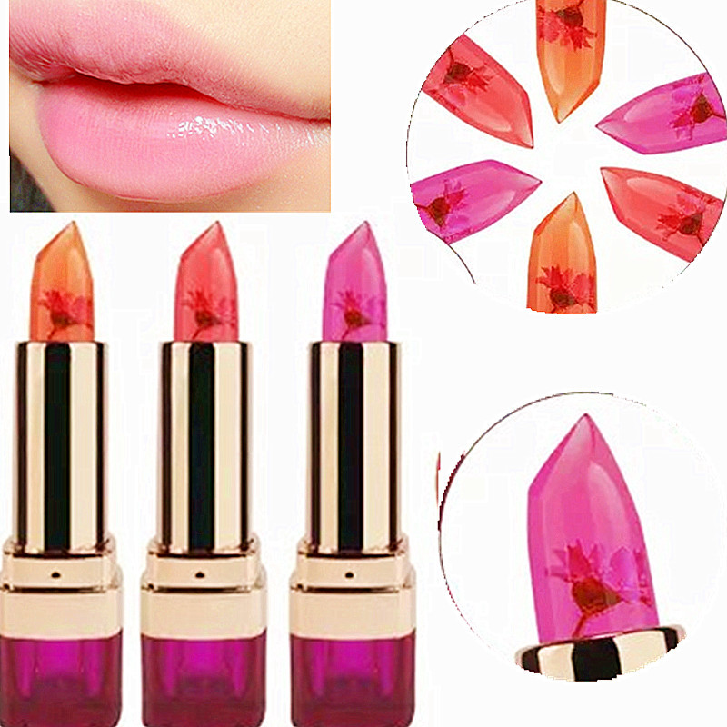 OEM Jelly lipstick lasting moisturizing chewing lips small flowers do not fade color lip balm women