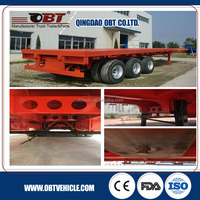 Double axle 40ft 20ft Flatbed container chassis semi trailers