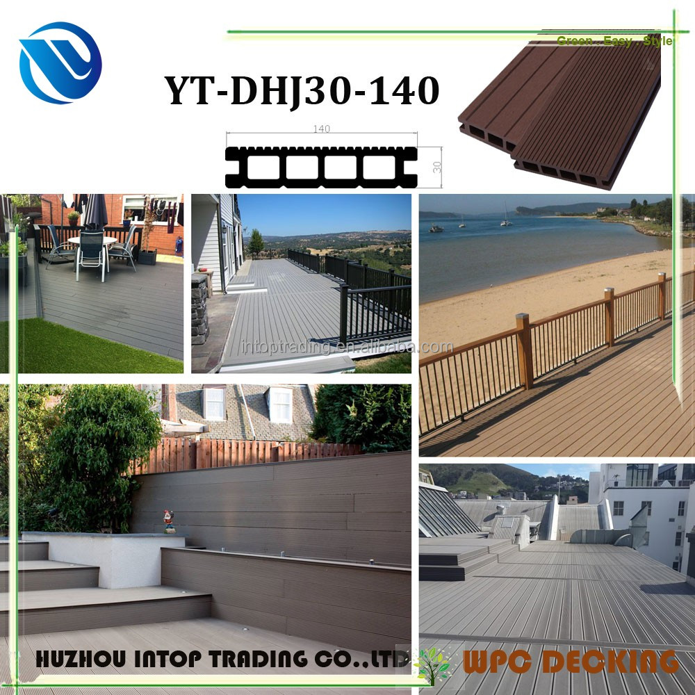 wood plastic composite outdoor wpc material adjustable feet hollow composite decking board